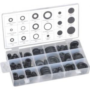Zestaw przelotek kablowych+zaślepki, (gumowe) 125 szt ST096