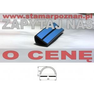 profil gumowy półokrągły 25x14mm samoprzylepny (typ 2)