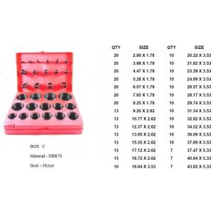 zestaw O-ringów NBR 382 szt. (czerwony) ST016