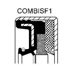 simering 45x60x16 COMBI SF wał różnicowy