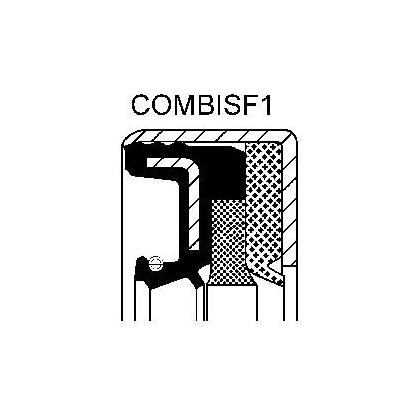 simering 30x44x14 NBR COMBI SF6